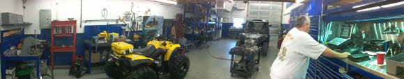 Can-Am Garage for maintenance, mods, and repairs