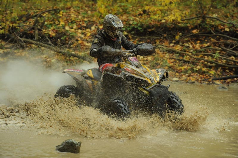 Michael Swift took his UXC Racing-backed Can-Am Renegade through the Ironman creek prior to the hillclimb section in the morning race. Swift won the U2 class championship and had eight wins.