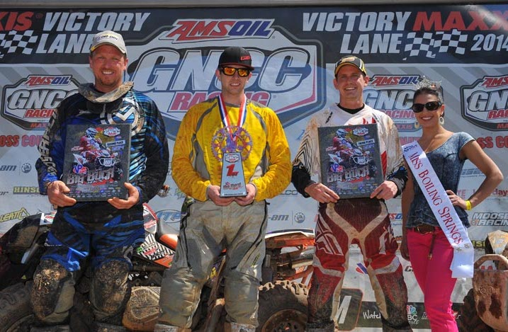 The Big Buck 4x4 Pro class podium was made up of Can-Am Renegade 800R X xc racers, Kevin Trantham, Jordan Phillips (winner) and Bryan Buckhannon.