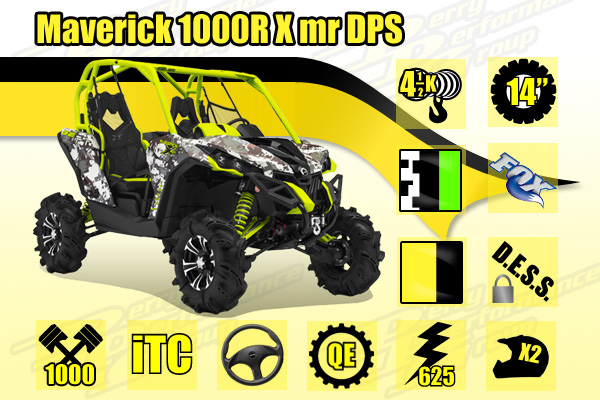 2015 Can-Am Maverick 1000R X mr DPS