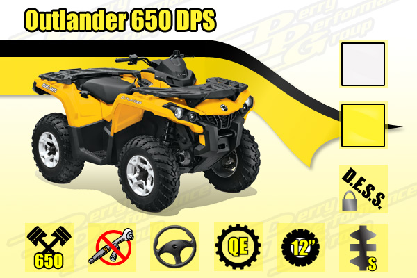 2015 Can-Am Outlander 650 DPS ATV
