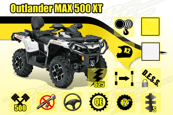 2015 Can-Am Outlander MAX 500 XT ATV