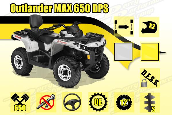 2015 Can-Am Outlander MAX 650 DPS ATV