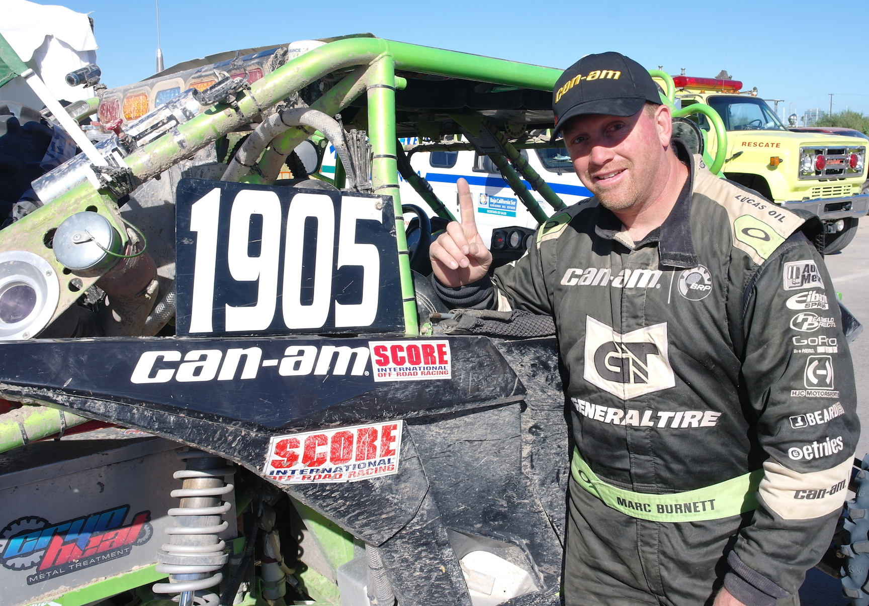 Marc Burnett, who also won two SCORE International Class 19 rounds this year, took sixth at the 2014 Tecate SCORE Baja 1000 desert endurance race in Mexico to capture the class championship. He drove all 1,275 miles behind the wheel of his No. 1905 MB Motorsports / Monster / Can-Am Maverick 1000R.