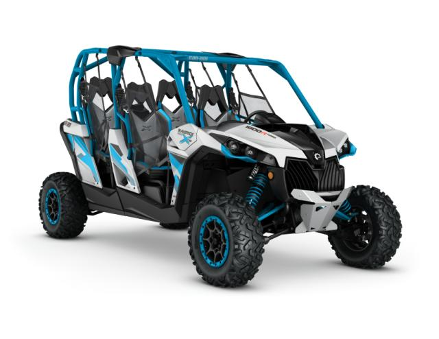 2016 Maverick MAX X ds 1000R TURBO Hyper Silver - Octane Blue_3-4 front