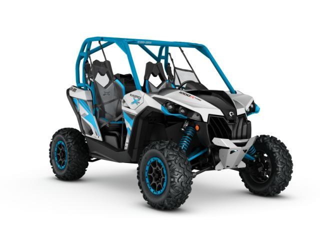 2016 Maverick X ds 1000R TURBO Hyper Silver - Octane Blue_3-4 front