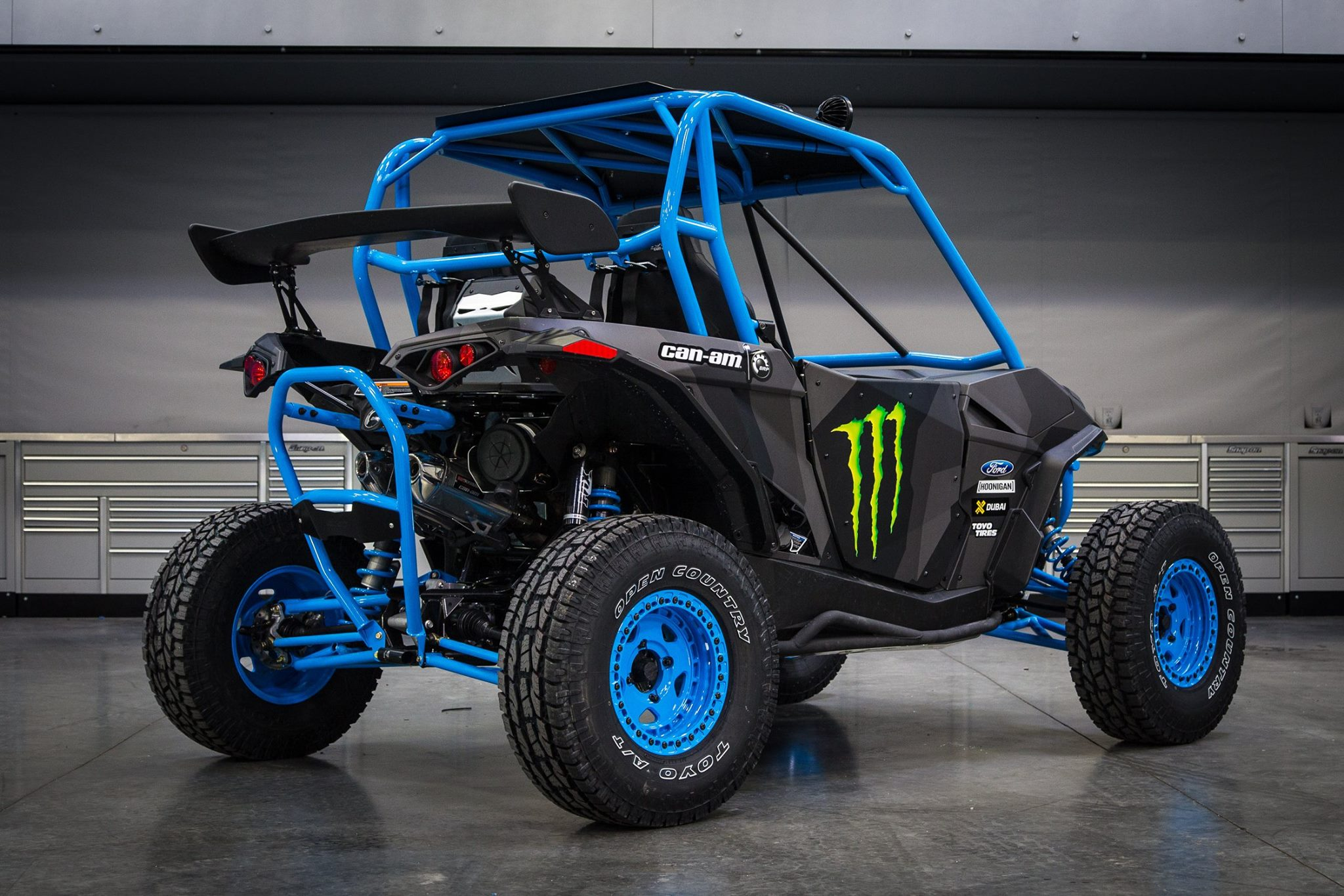 can am brand ambassador ken block showcases custom maverick side by side vehicle builds. Black Bedroom Furniture Sets. Home Design Ideas